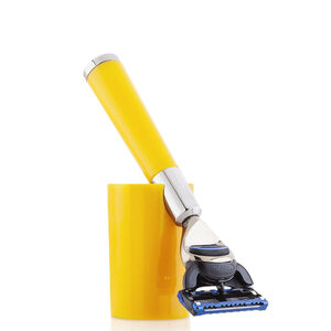 Yellow shaving razor