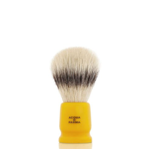 Yellow travel shaving brush, ONESIZE, hi-res-1