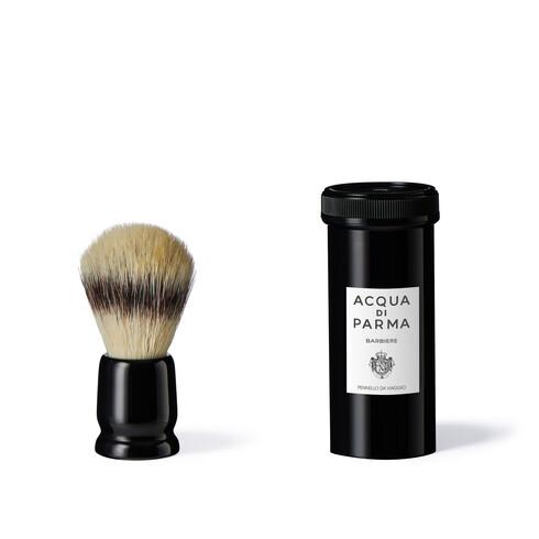 Black travel shaving brush, ONESIZE, hi-res-1