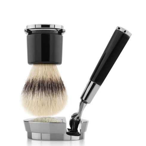 Black razor and brush, ONESIZE, hi-res-1
