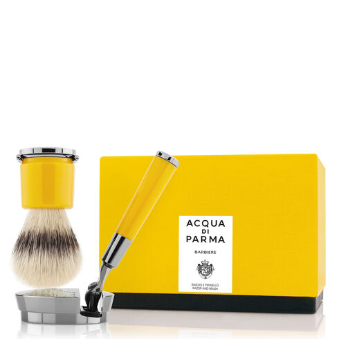 Yellow razor and brush, ONESIZE, hi-res-1