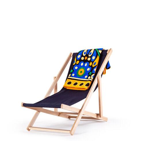 Serviette de plage - Confetti Bleu, ONESIZE, hi-res-1