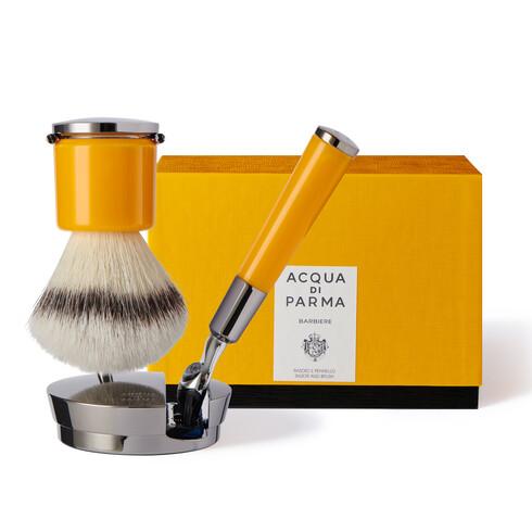 Yellow razor and brush, ONESIZE, hi-res-1
